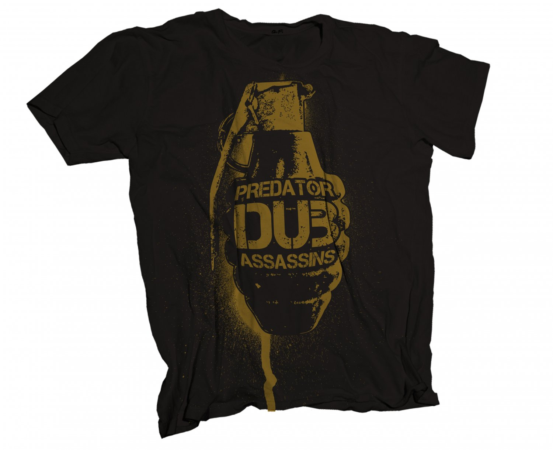 Predator Dub Assassins Grenade T-Shirt Black/Yellow