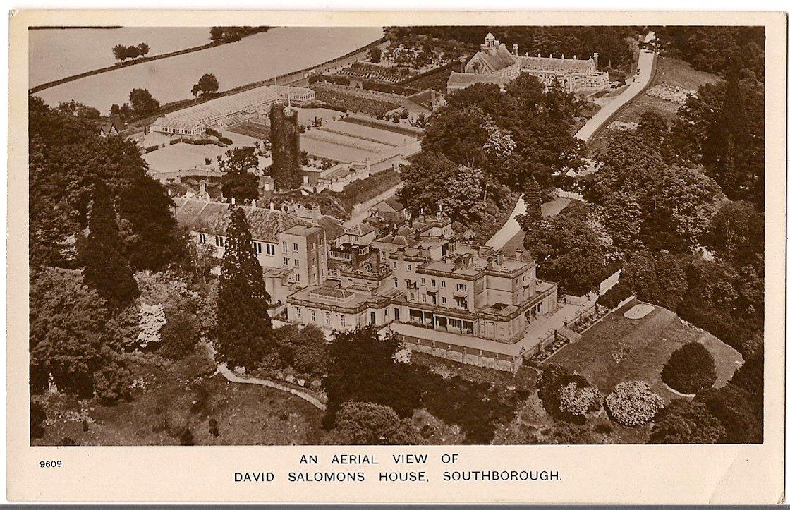 DAVID SALOMONS HOUSE AERIAL VIEW , SOUTHBOROUGH Aero Pictorial Ltd , 137,Regent Street , London .
