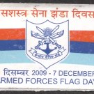 INDIAN ARMED FORCE FLAG DAY UNUSED STICKER (7 DECEMBER ) 2009