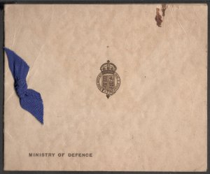 LONDON, MINISTRY OF DEFENCE CHRISTMAS GREETINGS  USED GREETING CARD RARE VINTAGE