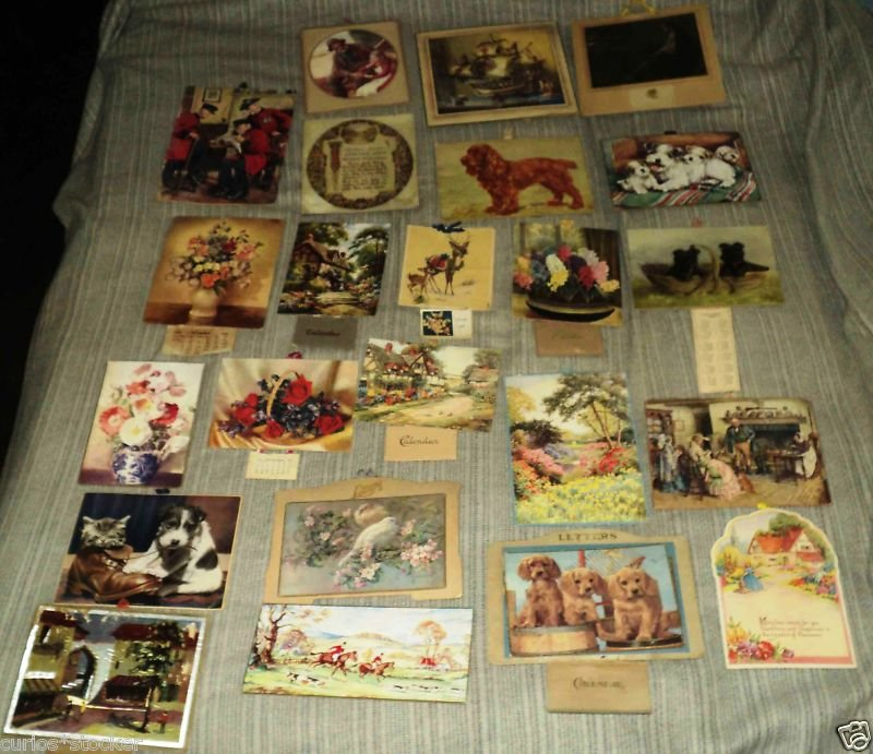 VINTAGE LOT OF 23 BRITISH CALENDARS 1940'S TO 69