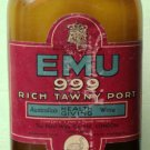 RARE VINTAGE - EMU 999 PORT WINE VINTAGE EMPTY BOTTLE