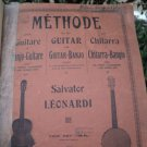 SCARCE HARD TO FIND PRINTED BOOK- METHODE FOR THE GUITAR BY SALVATOR LEONARDI