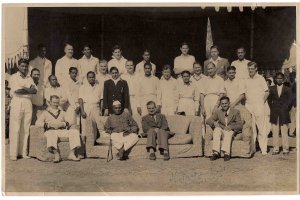 Picture 1950 autographed Ist President Dr Rajendra Prasad - BRITISH HIGH COMMISSION CRICKET TEAM