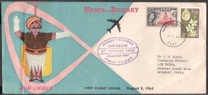 1964 India Boeing 707 First Bombay Nandi Fiji Flight