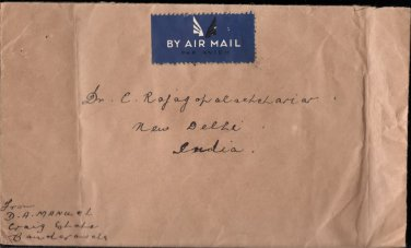 CeylonTo Gov Gen  C Rajagopalachari - Universal Postal Union 1949