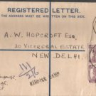 British India Viceroys Camp PO 1947  - Postal mark on stamped Cover