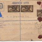 1949 Regd Bexhill on Sea Universal Postal Union Gov General Camp PO New Delhi