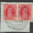 British India Viceregal Temperory PO 1940  - Postal mark on piece