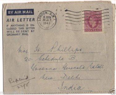 Handwritten Letter 1949 Gov Generals Camp PO