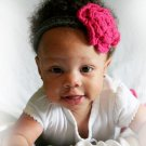 crochet baby girl headband u pick size and colors