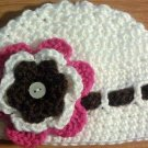 crochet baby girl hat and headband set