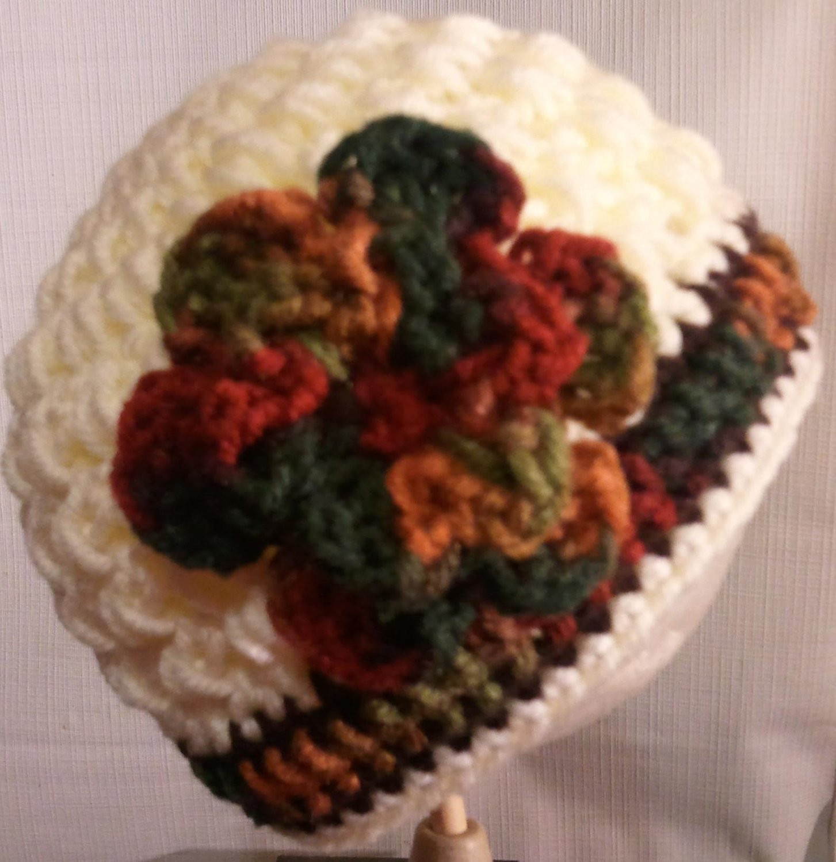 autumn crochet baby girl hat u pick size
