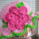 crochet baby girl ruffle hat
