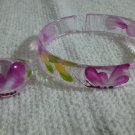 handpainted plastic bracelet and ring