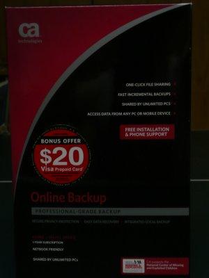 CA Online Backup 10GB