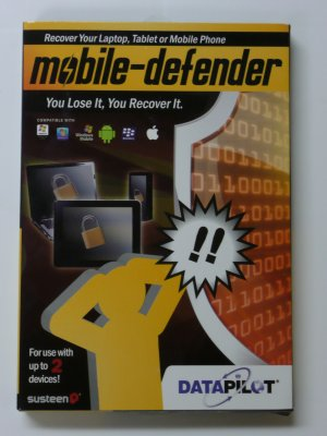 Susteen DataPilot Mobile Defender for 2 devices - track stolen cell phone devices