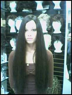 "SEXY EXTRA LONG HUMAN HAIR WIG DARK BROWN 28"" MUST SEE!"