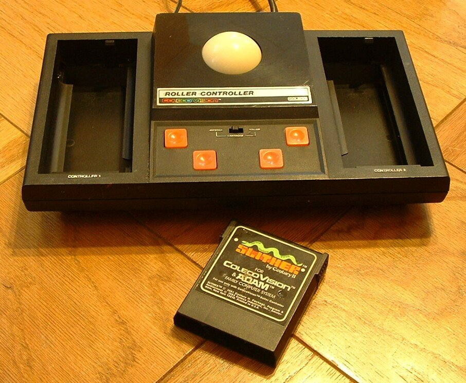 Colecovision ROLLER CONTROLLER + SLITHER