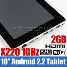 """10"""" epad flytouch 2 android 2.2 tablet pc X220 GPS"""