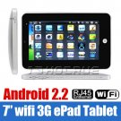 """NEW 7"""" Android 2.2 VIA8650 Tablet PC Camera Flash 10.1 3G WiFi  Epad"""