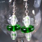 Green Lifesaver Earrings Handcrafted