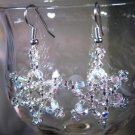 Christmas Star Earrings Handcrafted