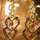 Swarovski Crystal Heart Earrings Handcrafted
