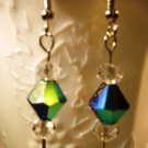 Black Bicone Earrings Handcrafted