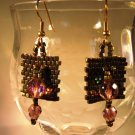 Antique Copper Earrings Handcrafted