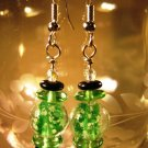 Glow in the Dark Earrings Handcrafted