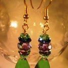 Green Patina Teardrop Earrings Handcrafted