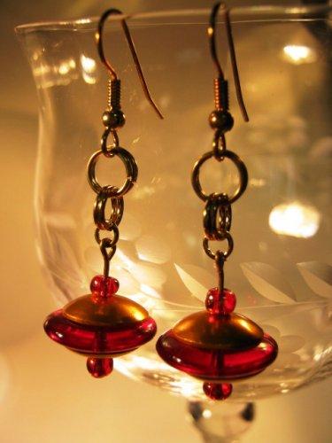 Disk Earrings Earrings Handcrafted