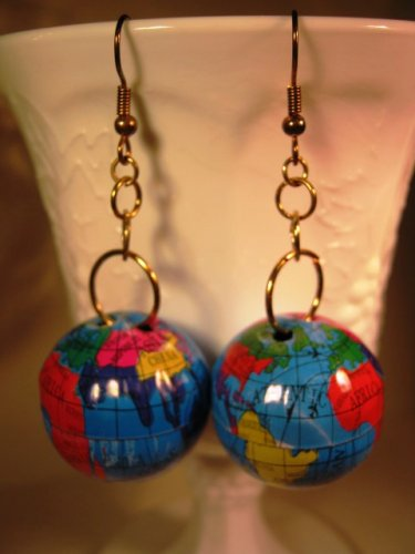 World Earrings Handcrafted