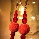 Sponge Coral Earrings Handcrafted
