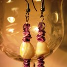 Natural Shell Nugget Earrings Handcrafted