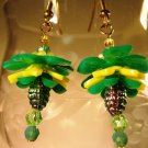 Vintage Flower Earrings Handcrafted