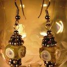 Lampwork Flower Earrings Handcrafted