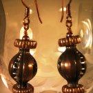 Copper Globe Earrings Handcrafted