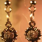 Sunflower Earrings French Wire Pierced Handcrafted