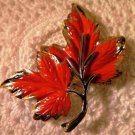 Vintage Autumn Enameled Brooch Pin