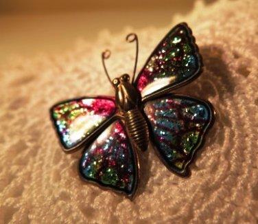 Enamel Butterfly Pin