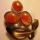 Vintage Pisces Pin Brooch Cluster Gold Tone