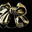 Vintage Silver Tone Bow Scarf Clip