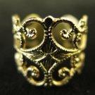 Gold Tone Filigree Ring