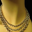 West Germany Chain Necklace Gold Tone Vintage
