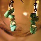 Turquoise Chip Earrings French Wire