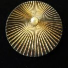 Napier Sterling Pin Brooch Faux Pearl