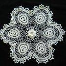 White Shamrocks Crochet Doily Handcrafted New