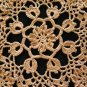 Pink Sunset Crochet Doily Handcrafted New